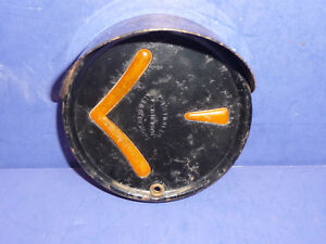 Vintage Arrow Safety Hooded Bezel Left Arrow Turn Signal Lens Ct34