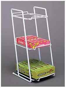2 Counter Gum Candy Snack Display Rack 3 Tier Boxed Good white