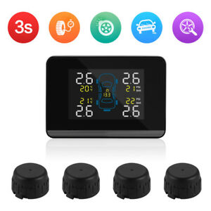 Car Auto Wireless Tpms Tire Tyre Pressure Monitoring System 4 Sensors Ma1322
