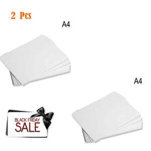 2 Pcs 100 Sheets A4 Dye Sublimation Heat Transfer Paper For Polyester Cotton