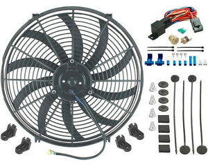 Ford 16 Inch Electric Radiator Cooling Fan 1 4 Thread In Probe Thermostat Kit