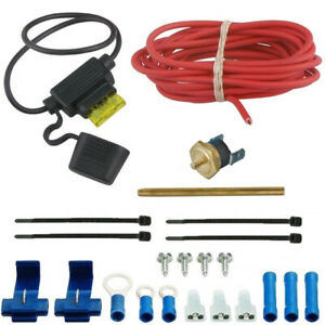 180 f Electric Cooling Fan Thermostat 12v Wiring Switch Kit Radiator Fin Probe