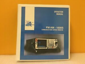 Ifr 1002 8600 000 Fm am 1600s Communications Service Monitor Operation Manual