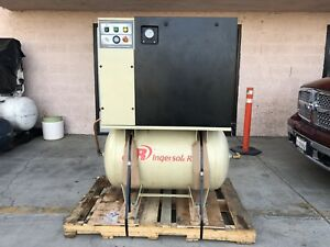 Ingersoll Rand Rotary Screw Air Compressor 15 Hp Up6 125 Psi 230volt 15k Hours
