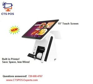 New Ipos All In One Touch Screen Sys 4gb Ram 64gb Ssd Restaurant Retail Pos