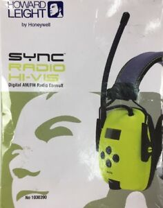 Howard Leight By Honeywell Sync Hi visibility Digital Am fm Radio Earmuff