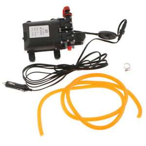 12v Wash High Pressure Car Washer Double Water Pump 5 5l min For Auto