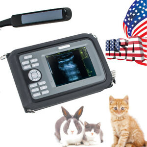 Portable Veterinary Ultrasound Scanner Machine Animal Transducer Rectal Probe Us