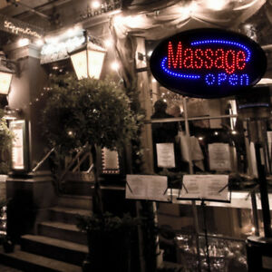 Massage Open High Quality Led Sign 23 X 11 Store Spa Window Business Sign
