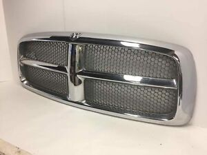 02 03 Dodge Ram 1500 2500 3500 Front Chrome Grille Oem Part 55077185ad