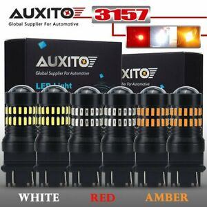 Auxito 6x 3157 3156 Led Combo Set Backup Reverse Turn Signal Brake Light Bulbs