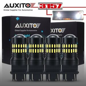 Auxito 4x 6000k 3157 3156 Led Backup Reverse Turn Signal Drl Light Bulbs White