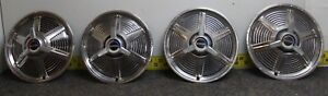 Ford Set Of 4 14 Spinner Hub Caps Wheel Covers C5zz1130r 987 1965 Mustang 341