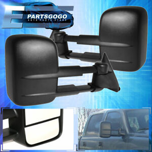 For 2003 2004 2005 2006 Chevy Silverado Gmc Sierra Black Power Tow Mirrors
