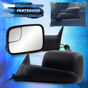 1994 1997 Dodge Ram Truck 1500 2500 3500 Flip Up Extendable Power Tow Mirrors