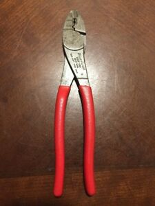 Blue Point Tools Usa 29cp Vintage Heavy Duty Wire Crimpers Cutters Pliers Red