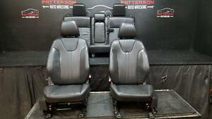 2014 Ford Focus Hatchback Front Rear Leather Seats Black 2w