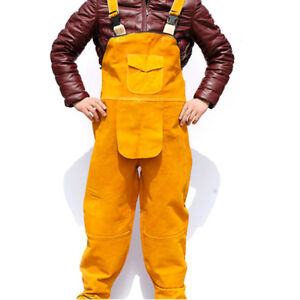 Welder Welding Jacket Overalls Welder Clothing Cowhide Leather Clothing L