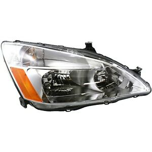 Headlight For 2003 2004 2005 2006 2007 Honda Accord Lx Ex Right Capa