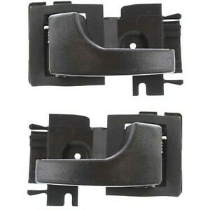 Interior Door Handle For 83 88 Ford Ranger 79 89 Mustang Set Of 2 Black Plastic
