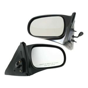 Manual Remote Mirror Set Of 2 For 1996 2000 Honda Civic Coupe Hatchback