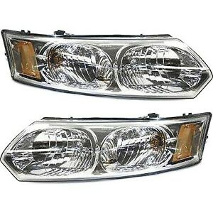 Headlight Set For 2003 2007 Saturn Ion Left And Right With Bulb Capa 2pc