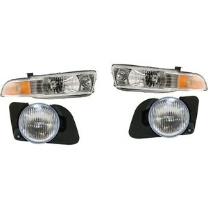 Headlight Kit For 99 2001 Mitsubishi Galant Left And Right 4pc