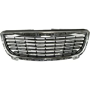 Grille For 2011 2014 Chrysler Town Amp Country Plastic Fits 2011 Chrysler Town Amp Country