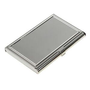 Stainless Steel Metal Wallet Business Id Credit Card Holder Clip Case Box