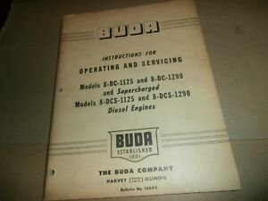 Buda Engines Service Manual 8 dc 1125 8 dc 1290 8 dcs 1125 8 dcs 1290 Diesel