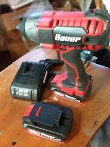 Bauer 1 2 Impact 20v Cordless 2batterys And Charger