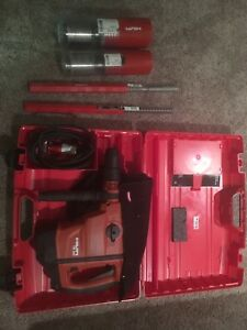 Hilti Te 60 Atc Avr Heavy Duty Rotary Hammer Drill In Case With Coring Bits