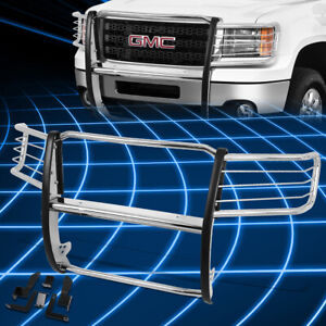 For 11 14 Gmc Sierra Stainless Steel Front Bumper Grille Brush Guard Replacement