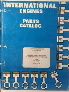 International Harvester Ih Tractor Crawler C 175 C 200 Engine Parts Manual Epc