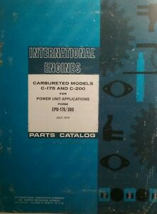 International Harvester Ih C 175 C 200 Gasoline Power Unit Engine Parts Manual