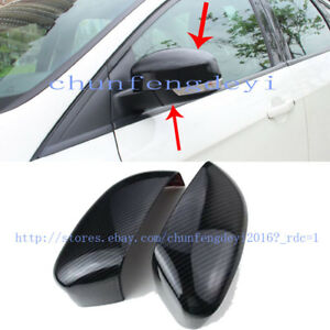 For Ford Focus St Kuga 2013 2015 Carbon Fiber Replacement Mirror Covers Cap 2pcs
