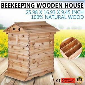 7 Automatic Honey Hive Beehive Frames Beekeeping Super Brood Box House