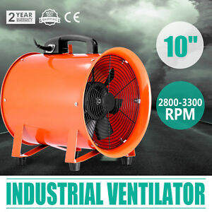 10 Exhaust Fan Blower Ventilator Extractor Industrial Garage High Rotation