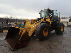 2010 Komatsu Wa470 6 Wheel Loader Jrb Erops Heat A c Radio Clean