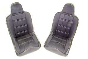 Mastercraft 525200 Seat W Hip Bolsters Harness Openings Cloth Vinyl Pair