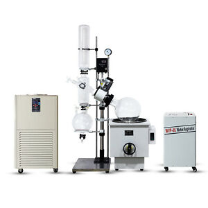 10l Industrial Rotary Evaporator Complete Turnkey W Water Vacuum Pump chiller
