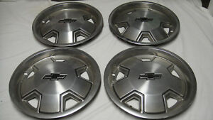 1966 Chevy Chevelle Malibu 14 Oem Hubcaps Wheel Covers Hub Caps Set Of 4