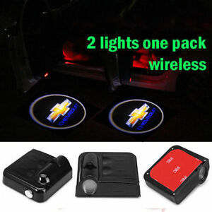 2pcs Ghost Shadow Car Door Logo Led Laser For Chevrolet Welcome Projector Light