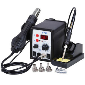 878d Digital Lead free Solder Smd Soldering Station Unit 110v ac Ce Approved