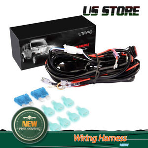 Universal 4 Lead Led Light Bar Wiring Harness Kit With Fuse On Off Switch 300w