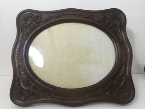 Rare Vintage Huge Bakelite Wood Tone Picture Photo Frame 11 X 14 Image