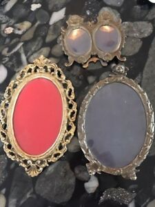 Antique Vintage Picture Photo Frames Lot Of Three