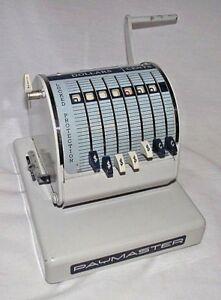 Paymaster System Canada Check Writer Stamping Printer X 550 Works Cover Vintage