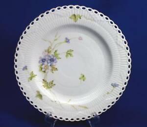 Early Antique Royal Copenhagen Reticulated Floral Plate