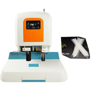 110v Auto Financial Binding Machine Binder Laser Positioning With 100 Rivet Tube